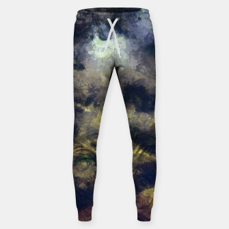 Miniatur abstract misty forest painting 2 hvhdfn Sweatpants, Live Heroes