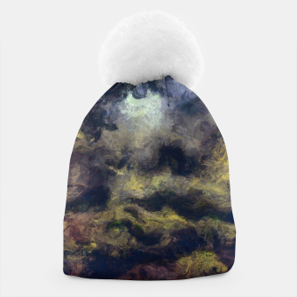 Miniatur abstract misty forest painting 2 hvhdfn Beanie, Live Heroes