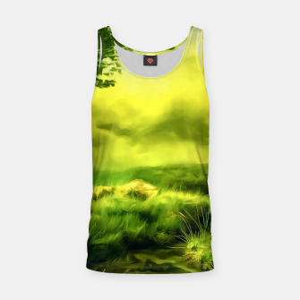 Thumbnail image of acrylic misty forest painting 2 acrstd Tank Top, Live Heroes