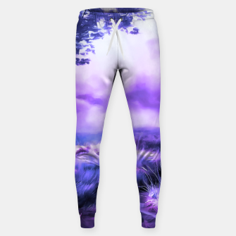 Thumbnail image of acrylic misty forest painting 2 acrdb Sweatpants, Live Heroes