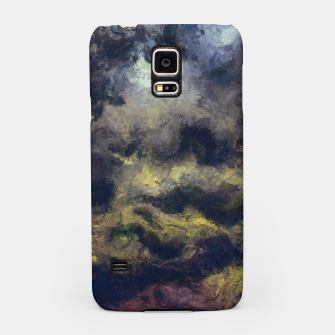 Miniatur abstract misty forest painting 2 hvhdfn Samsung Case, Live Heroes