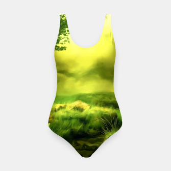 Thumbnail image of acrylic misty forest painting 2 acrstd Swimsuit, Live Heroes