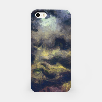 Miniatur abstract misty forest painting 2 hvhdfn iPhone Case, Live Heroes