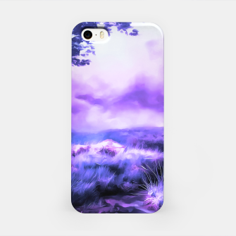 Miniatur acrylic misty forest painting 2 acrdb iPhone Case, Live Heroes