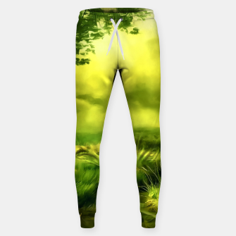Thumbnail image of acrylic misty forest painting 2 acrstd Sweatpants, Live Heroes