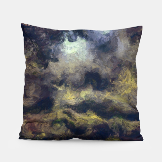 Miniatur abstract misty forest painting 2 hvhdfn Pillow, Live Heroes