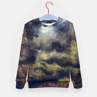 Miniatur abstract misty forest painting 2 hvhdfn Kid's sweater, Live Heroes