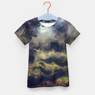 Miniatur abstract misty forest painting 2 hvhdfn Kid's t-shirt, Live Heroes