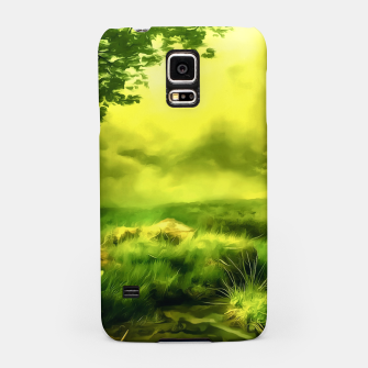 Thumbnail image of acrylic misty forest painting 2 acrstd Samsung Case, Live Heroes