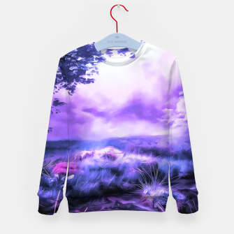 Miniatur acrylic misty forest painting 2 acrdb Kid's sweater, Live Heroes