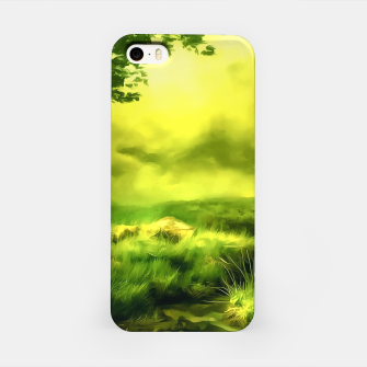 acrylic misty forest painting 2 acrstd iPhone Case Bild der Miniatur