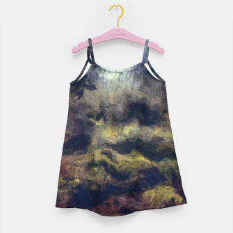 Miniatur abstract misty forest painting 2 hvhdfn Girl's dress, Live Heroes