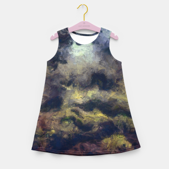 Miniatur abstract misty forest painting 2 hvhdfn Girl's summer dress, Live Heroes