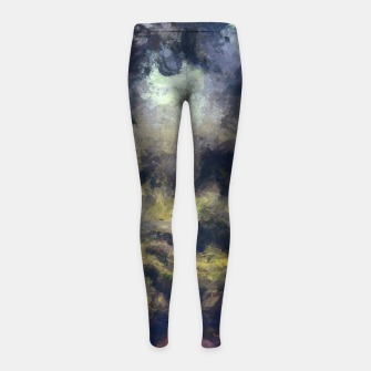 Miniatur abstract misty forest painting 2 hvhdfn Girl's leggings, Live Heroes
