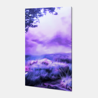 Thumbnail image of acrylic misty forest painting 2 acrdb Canvas, Live Heroes