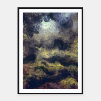 Miniatur abstract misty forest painting 2 hvhdfn Framed poster, Live Heroes