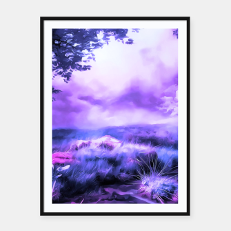 Miniatur acrylic misty forest painting 2 acrdb Framed poster, Live Heroes