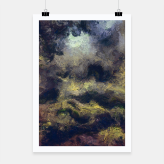 Miniatur abstract misty forest painting 2 hvhdfn Poster, Live Heroes