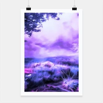 Thumbnail image of acrylic misty forest painting 2 acrdb Poster, Live Heroes