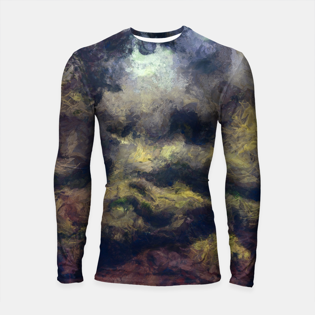Foto abstract misty forest painting 2 hvhdfn Longsleeve rashguard  - Live Heroes