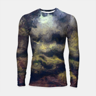Miniatur abstract misty forest painting 2 hvhdfn Longsleeve rashguard , Live Heroes