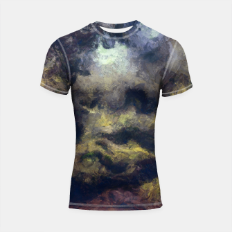 Miniatur abstract misty forest painting 2 hvhdfn Shortsleeve rashguard, Live Heroes