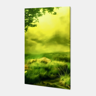 Thumbnail image of acrylic misty forest painting 2 acrstd Canvas, Live Heroes