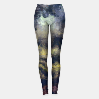 Miniatur abstract misty forest painting 2 hvhdfn Leggings, Live Heroes