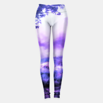 Thumbnail image of acrylic misty forest painting 2 acrdb Leggings, Live Heroes