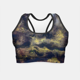 Miniatur abstract misty forest painting 2 hvhdfn Crop Top, Live Heroes