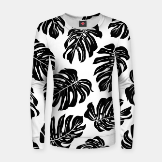 black leaves Women sweater thumbnail image
