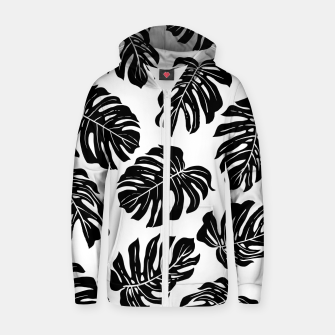 black leaves Zip up hoodie thumbnail image
