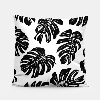 black leaves Pillow thumbnail image