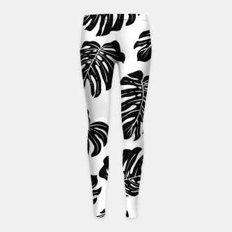 black leaves Girl's leggings thumbnail image
