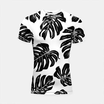 Thumbnail image of black leaves Shortsleeve rashguard, Live Heroes