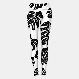Thumbnail image of black leaves Leggings, Live Heroes