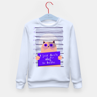 I just don't want to bathe Kid's sweater thumbnail image