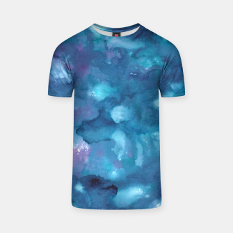 Miniatur Dreamy Ocean Abstract Painting #1 #ink #decor #art T-Shirt, Live Heroes