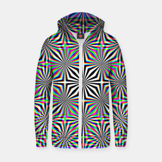 Miniatur Hypnotic Pattern Zip up hoodie, Live Heroes