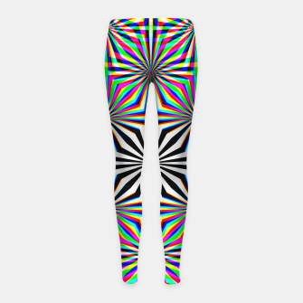 Miniatur Hypnotic Pattern Girl's leggings, Live Heroes