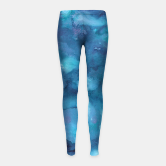 Miniatur Dreamy Ocean Abstract Painting #1 #ink #decor #art Kinder-Leggins, Live Heroes