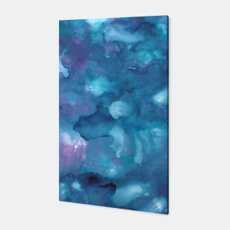 Miniatur Dreamy Ocean Abstract Painting #1 #ink #decor #art Canvas, Live Heroes
