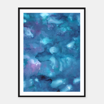 Miniatur Dreamy Ocean Abstract Painting #1 #ink #decor #art Plakat mit rahmen, Live Heroes