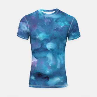 Thumbnail image of Dreamy Ocean Abstract Painting #1 #ink #decor #art Shortsleeve rashguard, Live Heroes