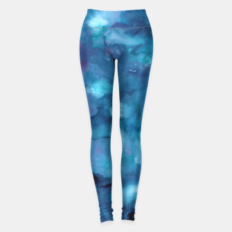 Miniatur Dreamy Ocean Abstract Painting #1 #ink #decor #art Leggings, Live Heroes