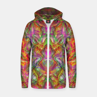 Miniatur Abstract Psychedelic Zip up hoodie, Live Heroes