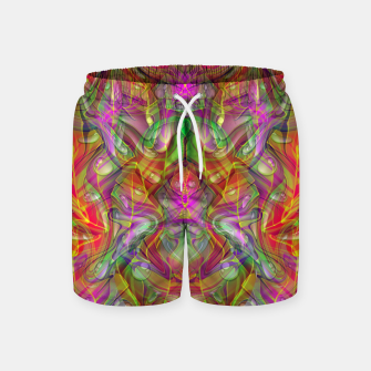 Miniatur Abstract Psychedelic Swim Shorts, Live Heroes