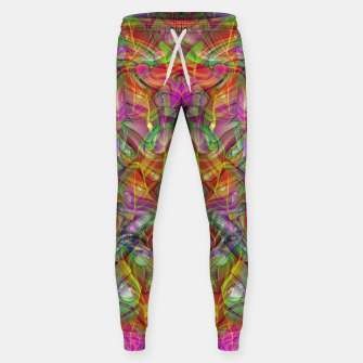 Miniatur Abstract Psychedelic Sweatpants, Live Heroes