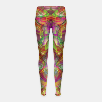 Miniatur Abstract Psychedelic Girl's leggings, Live Heroes