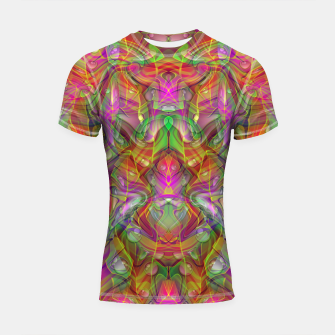 Miniatur Abstract Psychedelic Shortsleeve rashguard, Live Heroes